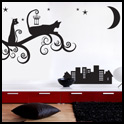 Vinyl Wall Decor - Night Cats